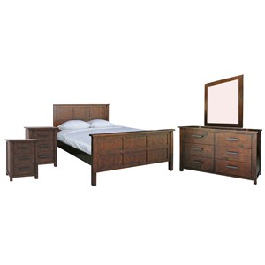 33587 - Farmhouse 4pc Queen Bedroom Suite