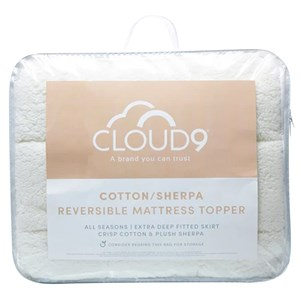 33619 - Cloud 9 Sherpa Reversible Mattress Topper