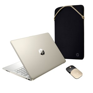 """33677 - HP 15"""" Laptop with Mouse and Bag"""